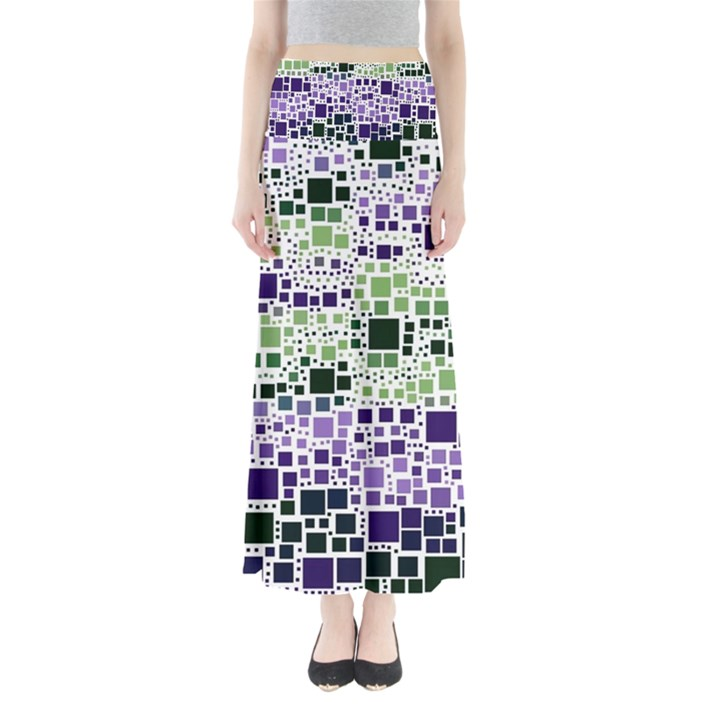 Block On Block, Purple Maxi Skirts