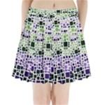 Block On Block, Purple Pleated Mini Skirt