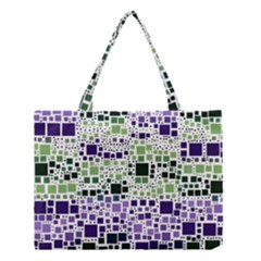Block On Block, Purple Medium Tote Bag by MoreColorsinLife