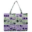 Block On Block, Purple Medium Zipper Tote Bag View1