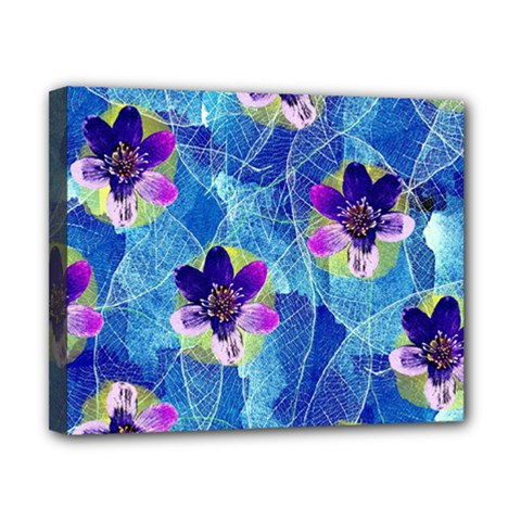 Purple Flowers Canvas 10  X 8  by DanaeStudio