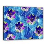 Purple Flowers Canvas 20  x 16