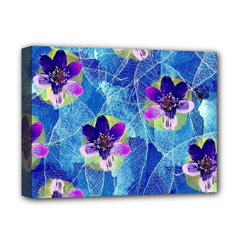Purple Flowers Deluxe Canvas 16  X 12   by DanaeStudio