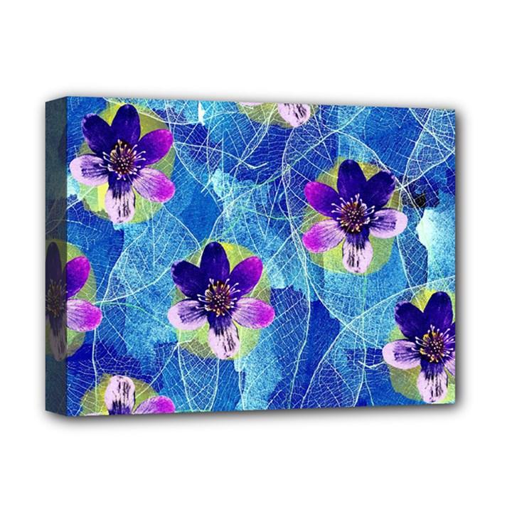 Purple Flowers Deluxe Canvas 16  x 12