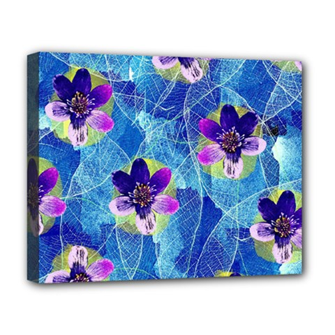 Purple Flowers Deluxe Canvas 20  X 16   by DanaeStudio