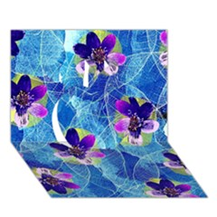 Purple Flowers Apple 3d Greeting Card (7x5) by DanaeStudio