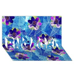 Purple Flowers Engaged 3d Greeting Card (8x4) by DanaeStudio