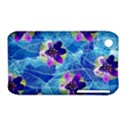Purple Flowers Apple iPhone 3G/3GS Hardshell Case (PC+Silicone) View1