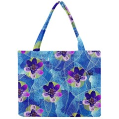 Purple Flowers Mini Tote Bag by DanaeStudio