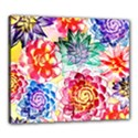 Colorful Succulents Canvas 24  x 20  View1
