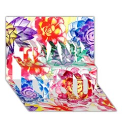 Colorful Succulents Thank You 3d Greeting Card (7x5)