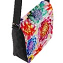 Colorful Succulents Flap Messenger Bag (L)  View2