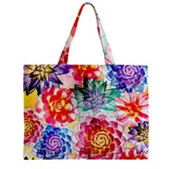 Colorful Succulents Zipper Mini Tote Bag