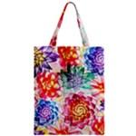 Colorful Succulents Zipper Classic Tote Bag