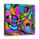 Abstract Sketch Art Squiggly Loops Multicolored Mini Canvas 8  x 8  View1