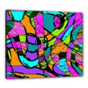 Abstract Sketch Art Squiggly Loops Multicolored Canvas 24  x 20  View1