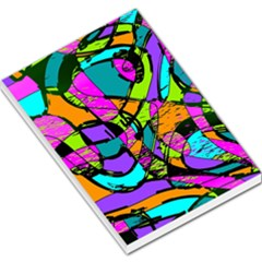 Abstract Sketch Art Squiggly Loops Multicolored Large Memo Pads