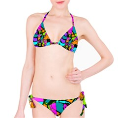 Abstract Sketch Art Squiggly Loops Multicolored Bikini Set by EDDArt