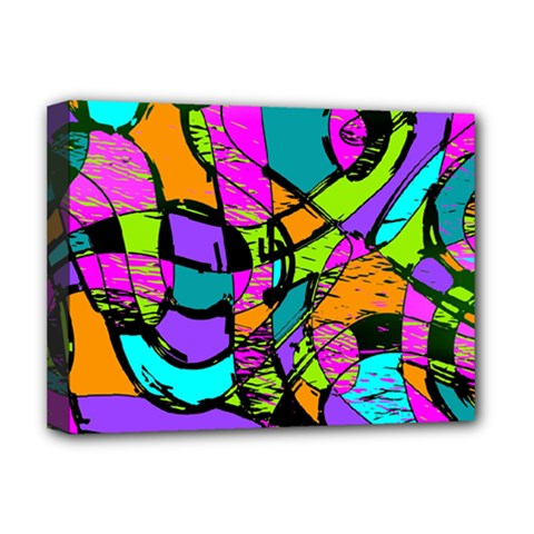 Abstract Sketch Art Squiggly Loops Multicolored Deluxe Canvas 16  X 12   by EDDArt