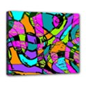 Abstract Sketch Art Squiggly Loops Multicolored Deluxe Canvas 24  x 20   View1