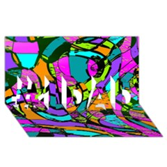 Abstract Sketch Art Squiggly Loops Multicolored #1 Dad 3d Greeting Card (8x4) by EDDArt
