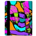 Abstract Sketch Art Squiggly Loops Multicolored Apple iPad Mini Flip Case View3