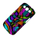 Abstract Sketch Art Squiggly Loops Multicolored Samsung Galaxy S III Classic Hardshell Case (PC+Silicone) View4