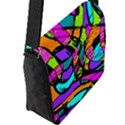 Abstract Sketch Art Squiggly Loops Multicolored Flap Messenger Bag (L)  View2