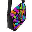 Abstract Sketch Art Squiggly Loops Multicolored Flap Messenger Bag (S) View2