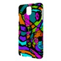 Abstract Sketch Art Squiggly Loops Multicolored Samsung Galaxy Note 3 N9005 Hardshell Case View3