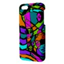 Abstract Sketch Art Squiggly Loops Multicolored iPhone 5S/ SE Premium Hardshell Case View3