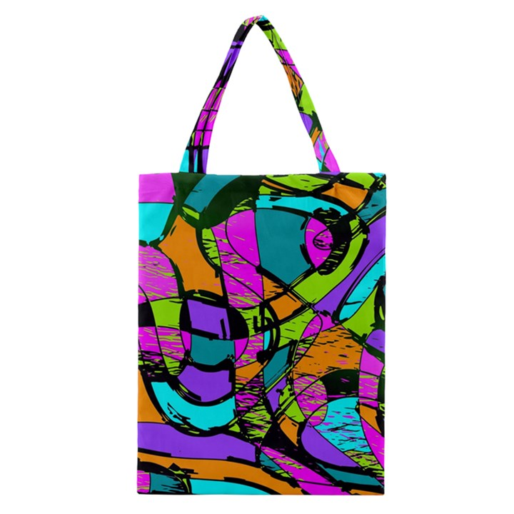 Abstract Sketch Art Squiggly Loops Multicolored Classic Tote Bag