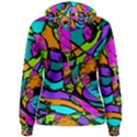 Abstract Sketch Art Squiggly Loops Multicolored Women s Pullover Hoodie View2