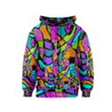 Abstract Sketch Art Squiggly Loops Multicolored Kids  Zipper Hoodie View1