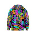 Abstract Sketch Art Squiggly Loops Multicolored Kids  Zipper Hoodie View2