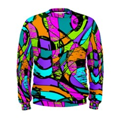Abstract Sketch Art Squiggly Loops Multicolored Men s Sweatshirt