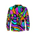 Abstract Sketch Art Squiggly Loops Multicolored Kids  Sweatshirt View2
