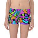Abstract Sketch Art Squiggly Loops Multicolored Boyleg Bikini Bottoms View1