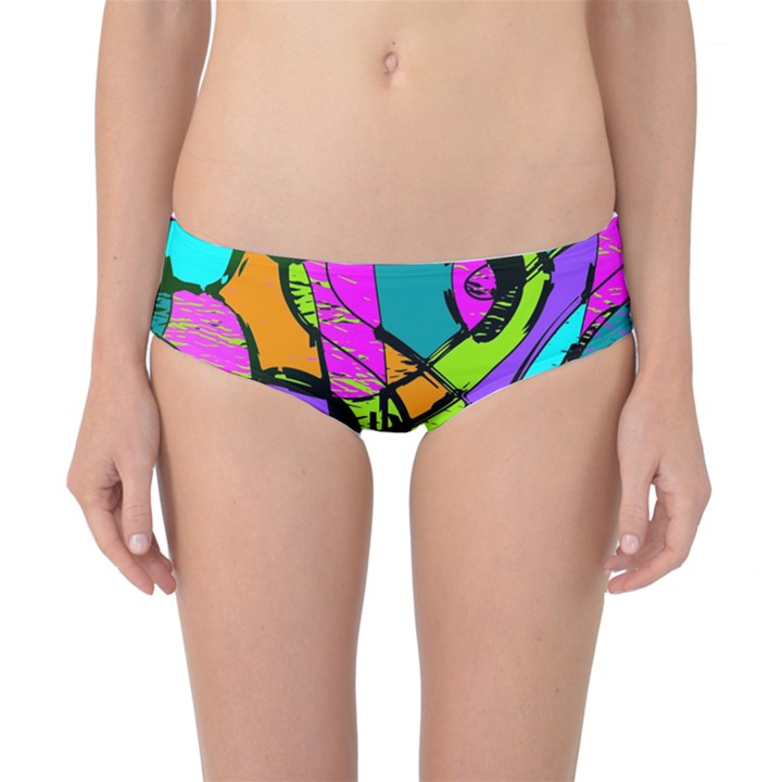 Abstract Sketch Art Squiggly Loops Multicolored Classic Bikini Bottoms