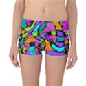 Abstract Sketch Art Squiggly Loops Multicolored Reversible Boyleg Bikini Bottoms View3