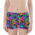Abstract Sketch Art Squiggly Loops Multicolored Boyleg Bikini Wrap Bottoms View1