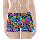 Abstract Sketch Art Squiggly Loops Multicolored Boyleg Bikini Wrap Bottoms View2