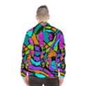Abstract Sketch Art Squiggly Loops Multicolored Wind Breaker (Men) View2