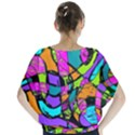 Abstract Sketch Art Squiggly Loops Multicolored Blouse View2
