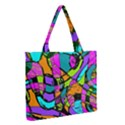 Abstract Sketch Art Squiggly Loops Multicolored Medium Zipper Tote Bag View2