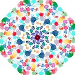 Colorful Diamonds Dream Folding Umbrellas by DanaeStudio