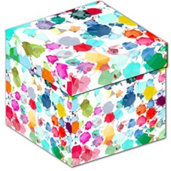 Colorful Diamonds Dream Storage Stool 12   by DanaeStudio