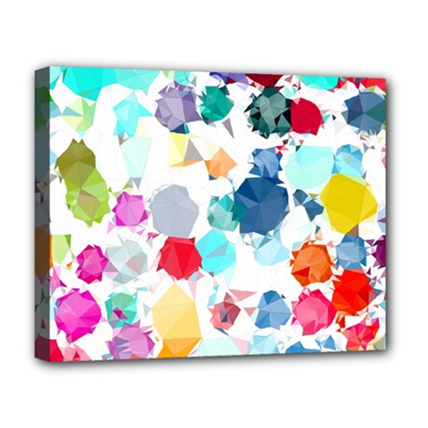 Colorful Diamonds Dream Deluxe Canvas 20  X 16   by DanaeStudio