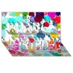 Colorful Diamonds Dream Happy Birthday 3D Greeting Card (8x4)