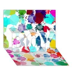 Colorful Diamonds Dream Boy 3d Greeting Card (7x5)